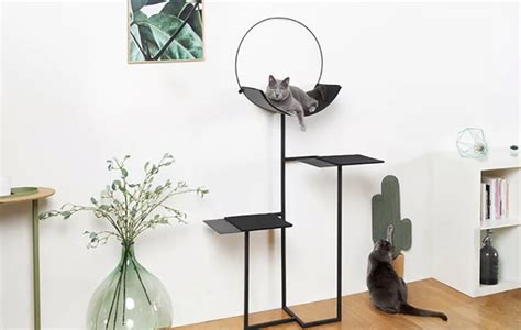 minimalist cat tree a minimalist cat bed and scratcher to add style digsdigs