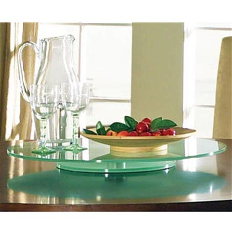 glass table top lazy susan steve silver avenue table top lazy susan 22 quot round