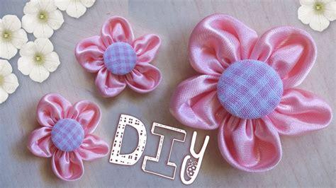 come creare fiori in stoffa tutorial come realizzare un fiore di stoffa diy pink
