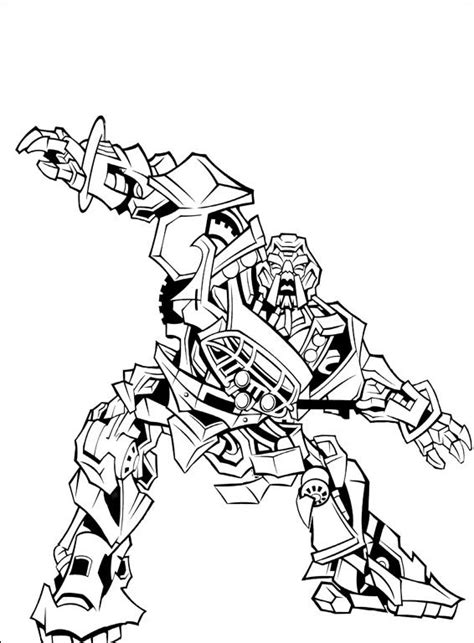 dessins de coloriage transformers starscream  imprimer