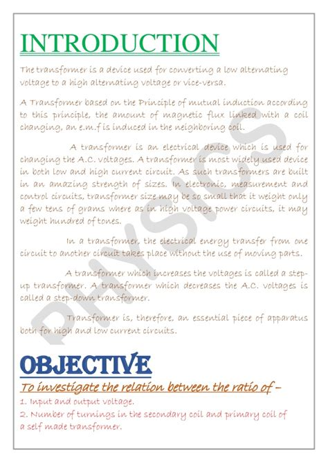 Exle Of Letter For Investigatory Project Physics Investigatory Project Class 12