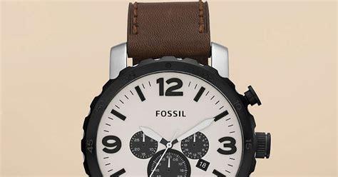 Jam Tangan Pria Cowok Fossil Time Leather B High Quality jam tangan pria fossil type jr1390