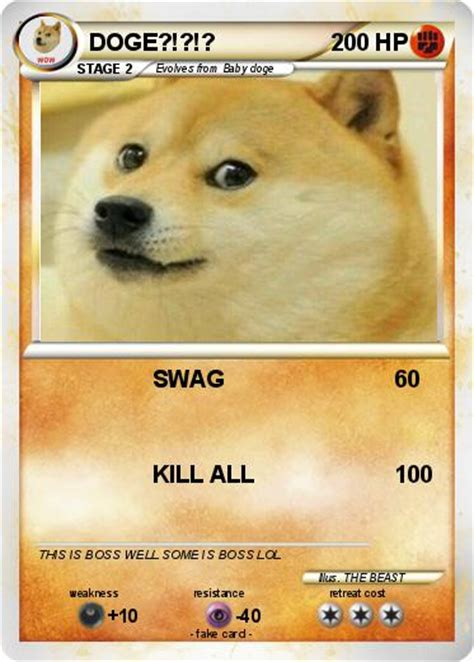 doge card pok 233 mon doge 585 585 swag my card