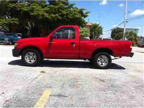 toyota tacoma bed liner buy used red 2002 toyota tacoma airbags bed liner 5 spd