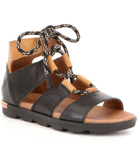 Special Sale Lorenza Flat Shoes sorel torpeda lace ii leather ghillie lace up flat sandals dillards