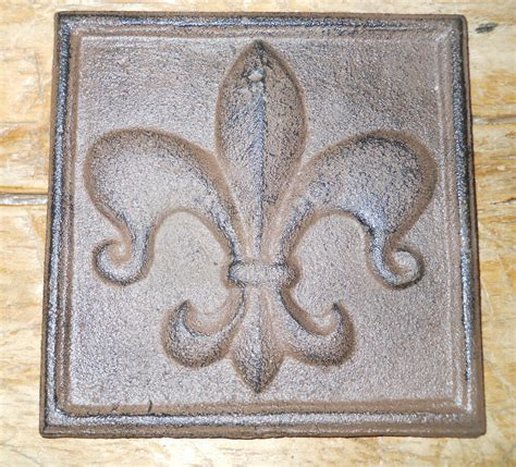 fleur de lis home decor cast iron fleur de lis plaque finial garden sign home wall