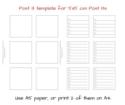 post it template new daily planner insert and free post it template