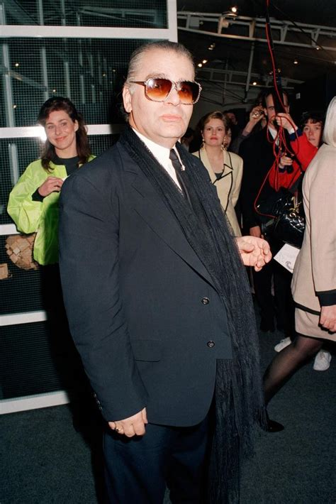 More Pics From Karl Lagerfelds Minogue Thandie Newton And Co by 1991 Karl Lagerfeld Before He Began Wanting To Wear