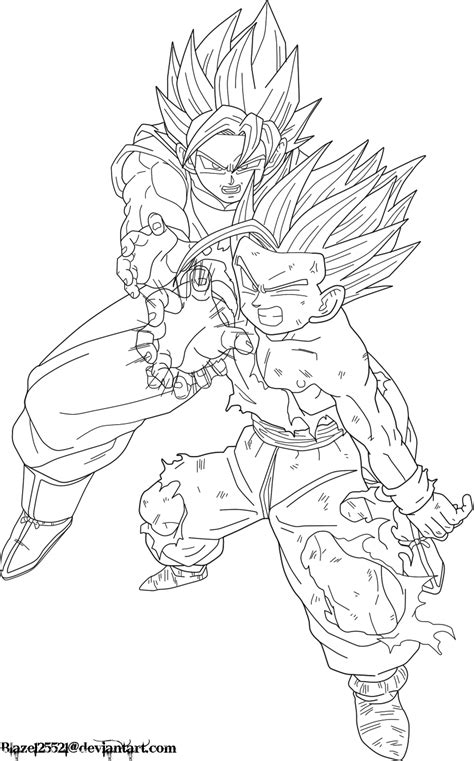 dragon ball z coloring pages goku kamehameha father son kamehameha lineart by jamalc157 on deviantart