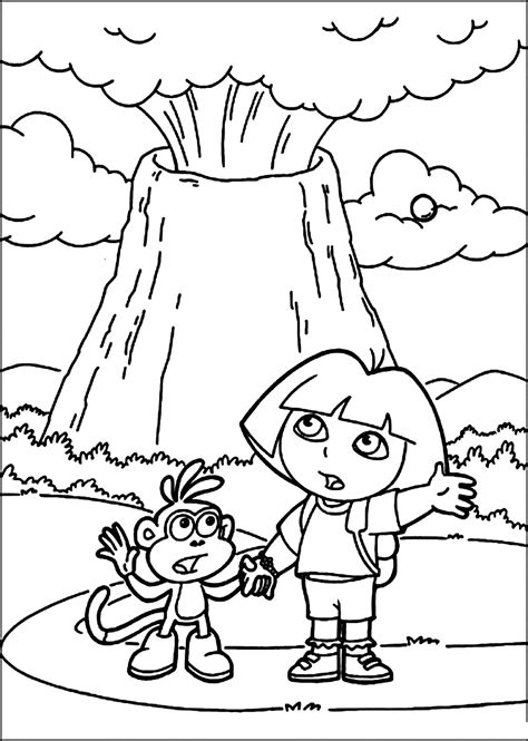 printable coloring pages volcanoes printable volcano coloring pages coloring me