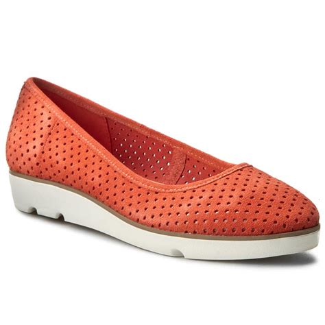 shoes clarks evie buzz 261238644 coral suede flats