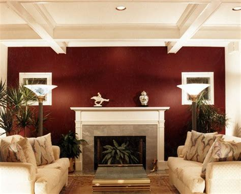 Living Room With Maroon Accents Burgendy Accent Wall Burgundy Accent Wall In Living Room