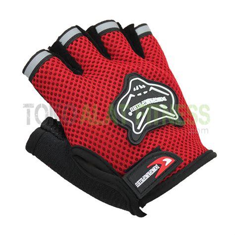 Sarung Tangan Fitness Half Finger Mesh sarung tangan half finger dongfangfeihu merah toko alat fitness