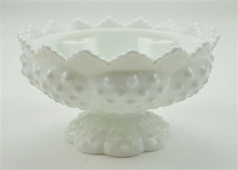 fenton glass vintage fenton glass candle bowl epergne base hobnail