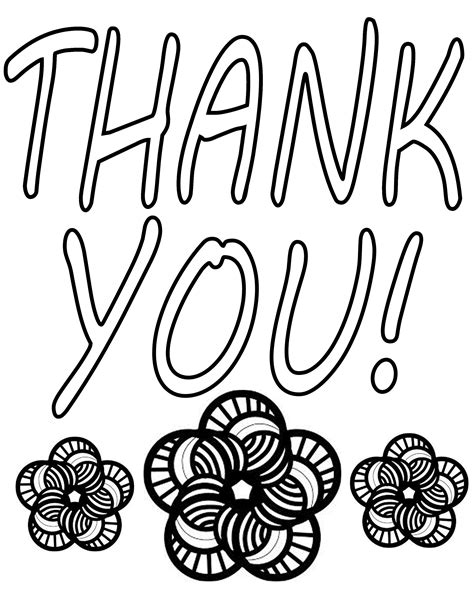 coloring pages of thank you cards free coloring pages of saying thank you