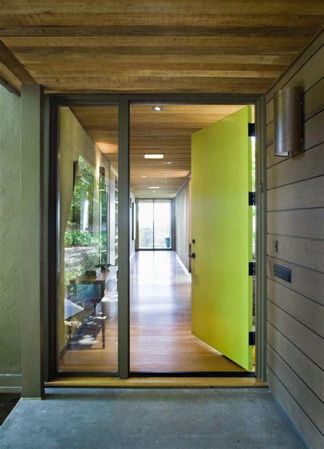 large yellow front door decoist