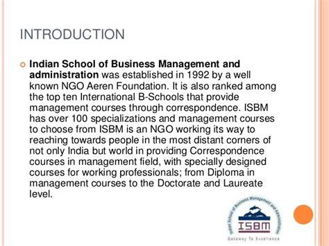 Mba In Ngo Management by Ismb Pptisbm Executive Mba Program