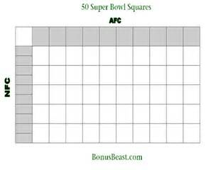 Bowl 50 Squares Template by Print Superbowl Square Grid 50 Boxes Office Pool Football