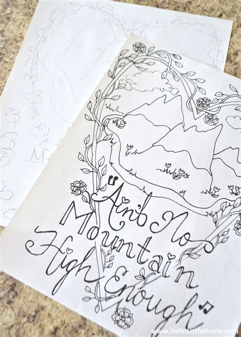 How To Make Your Own Coloring Pages Free Coloring Page Ain T No Mountain High Enough by How To Make Your Own Coloring Pages