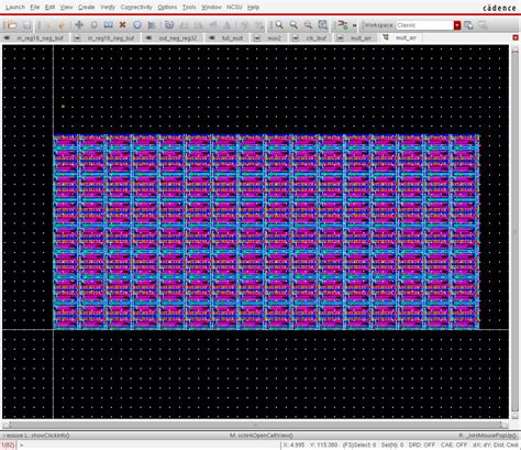 layout editor cell array the array s size is 219u x 100 93u the stepped size of