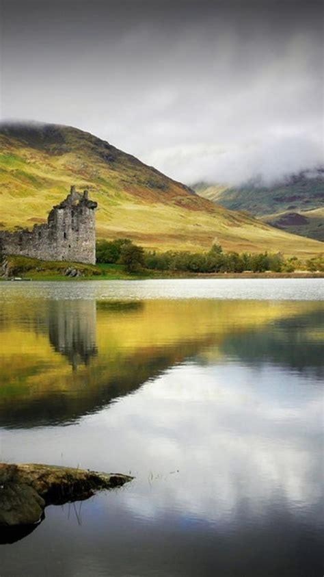 castles trees ruins scotland lakes kilchurn castle wallpaper