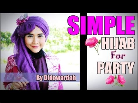youtube tutorial hijab pesta pashmina tutorial hijab pashmina pesta simple by didowardah 51