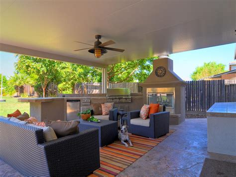 backyard living room contemporary outdoor living room and kitchen hgtv