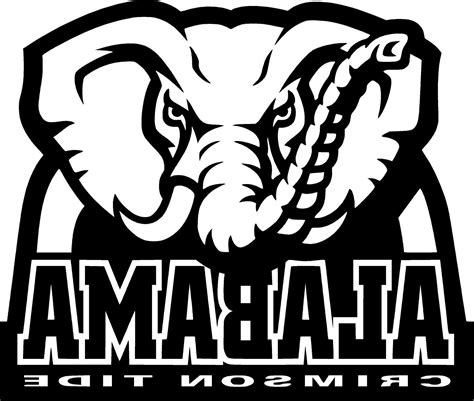 alabama elephant coloring page alabama football free coloring pages