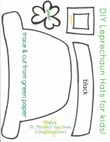 leprechaun hat template st s day crafts for printables st