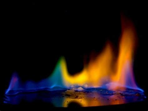 how to make colored flames colored rainbow