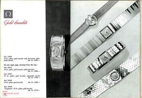 Le catalogue des montres Omega de 1960