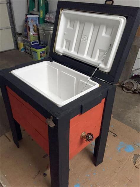 backyard ice chest 9 diy pallet cooler ideas diy to make