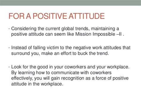 8 Tips On Maintaining A Attitude At Work by Positive Thinking In Workplace