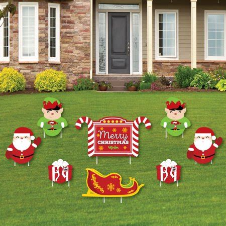 merry christmas outdoor decorations jolly santa claus merry yard sign outdoor lawn decorations yard signs