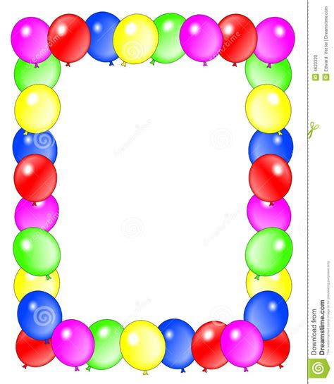 balloon border template free free birthday clipart borders and frames clipartsgram