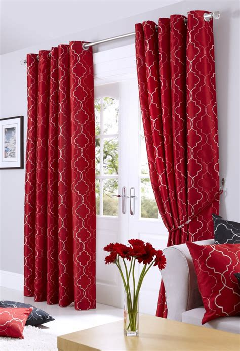 red lined curtains nouveau red lined eyelet curtains woodyatt curtains stock