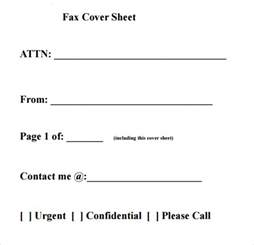 fax cover sheet templates pdf printable