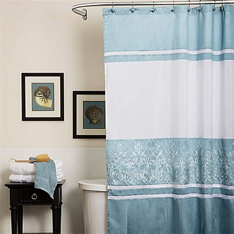 bed bath and beyond charlotte nc buy charlotte shower curtain in blue from bed bath beyond
