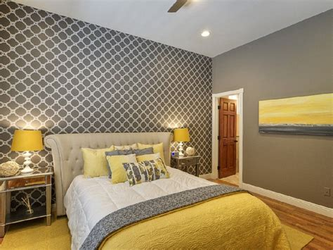 chic yellow and grey bedroom bedroom gray