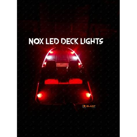 led bass boat deck lights nox series bass boat led deck light 1 pc