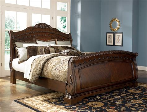 ashley furniture king sleigh bed ashley north shore king sleigh bed