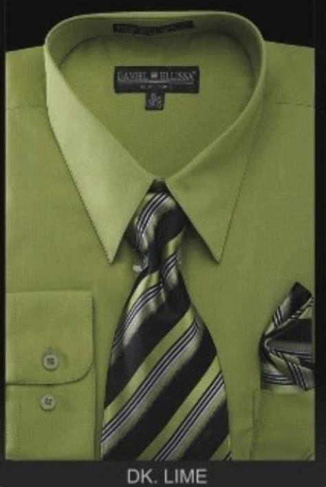 sku yj6785 s dress shirt premium tie lime