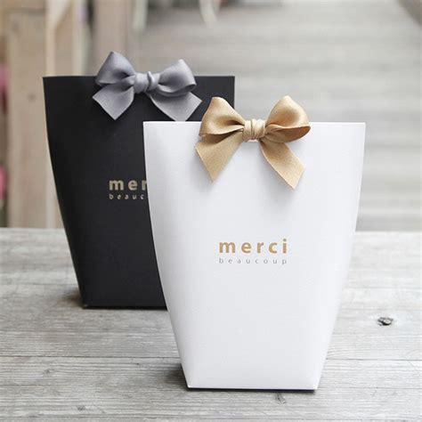 black wedding gift bags gift bag set black medium merci beaucoup party