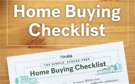 home checklist for buying a house buying a house home buying tips