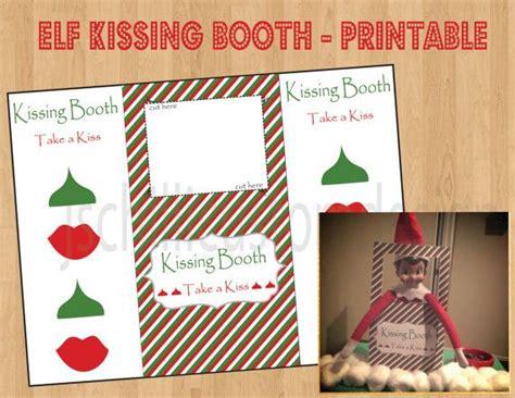 elf on the shelf kisses printable printable shelf elf inspired kissing booth instant download
