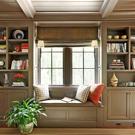 low window seat recrafted ranch house nooks cabinets and built ins