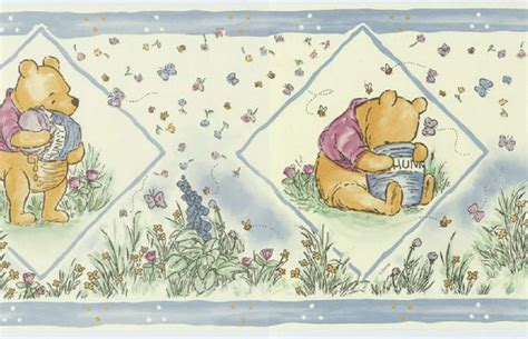disney wallpaper pooh goodnight vintage blue wallpaper classic pooh disney classic winnie the pooh