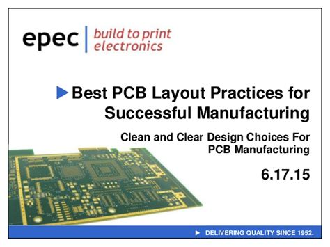 design for manufacturing pcb best pcb layout practices for successful manufacturing