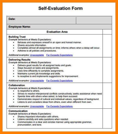 4  self evaluation form   coaching resume