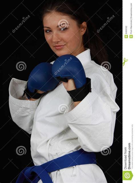 Karet Gir Karate Stock Photo Image Of Expression Black